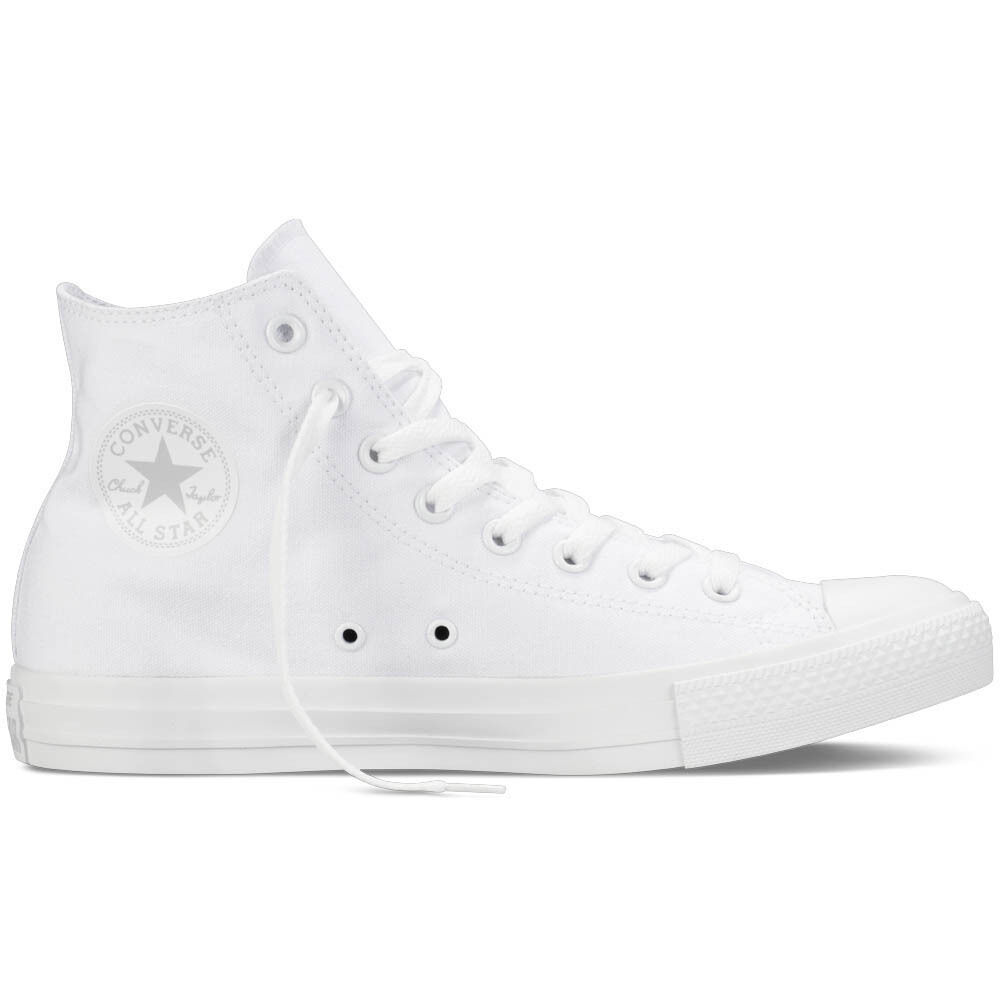Converse All Star Monochrome Tela Alte Total Hi Canvas Chuck Taylor Total Alte White 50733d