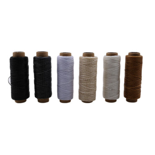 150D Leather Sewing Waxed Wax Thread And needle Cord Craft DIY 6A