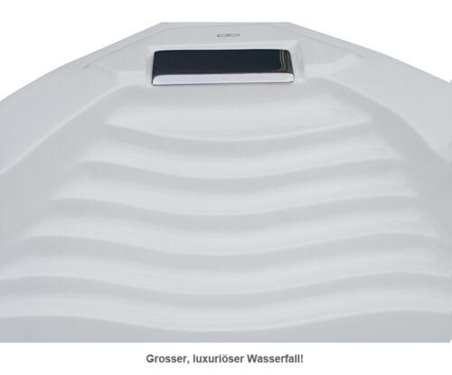 Designer Whirlpool Badewanne mit Massage Heizung Licht Wasserfall Ozon Eckwanne