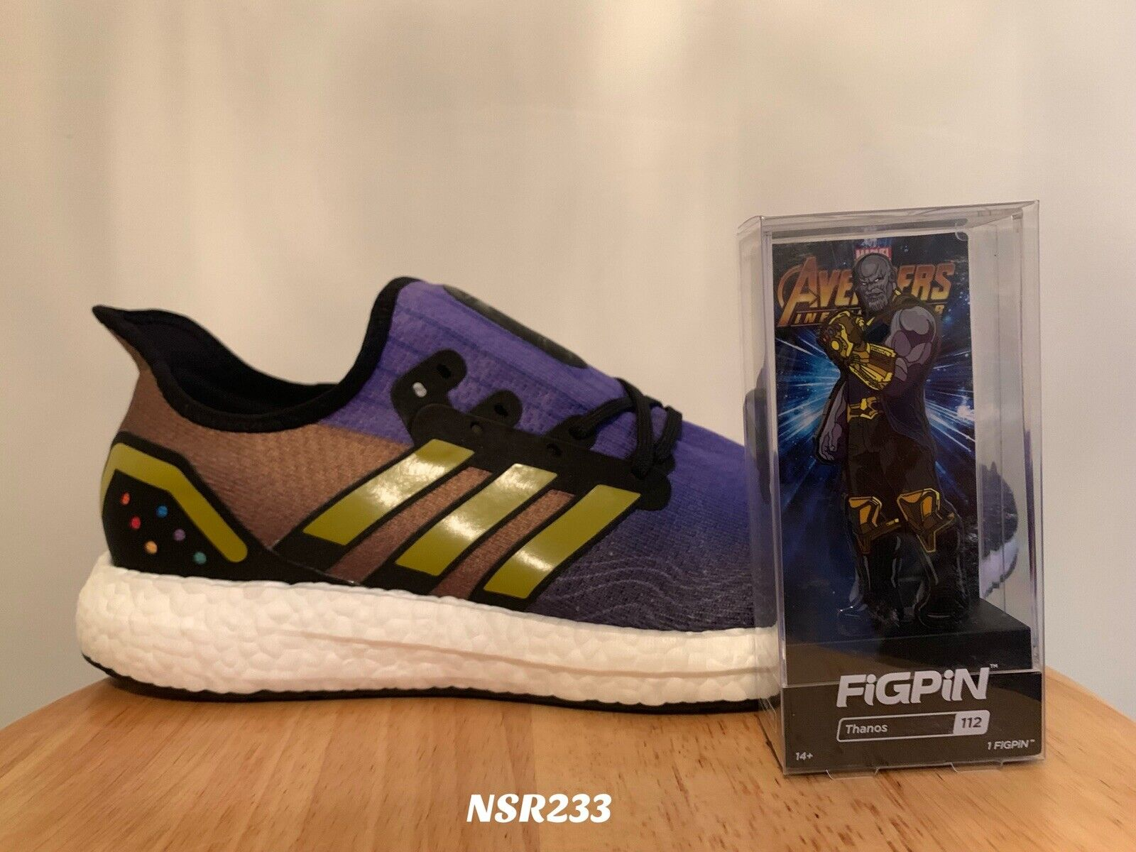 ADIDAS SPEED FACTORY AM4 THANOS AVENGERS MARVEL FV7917 Dimensione 8 FIGPIN INCLUDED