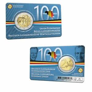 België 2021 - 2 euro coincard - Belgisch-Luxemburgse Economische Unie