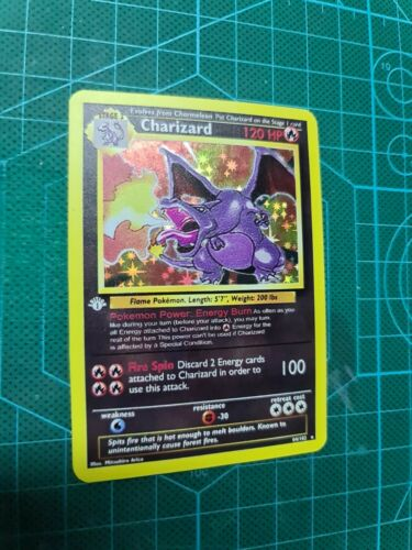 Shiny Charizard Glurak proxy CUSTOM pokemon card in HOLO