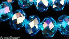 100pcs 4x6mm Blue AB Swarovski Crystal Loose Beads