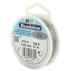 Beadalon 49 Strand Beading Wire - Choose Gauge & Length