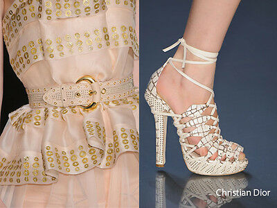 $1799 Christian Dior Safari Runway Matrimonio Raro Gladiatore Eu 40 41 I Love Asciugare Senza Stirare