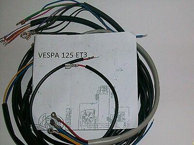 Impianto Elettrico Vespa Et3 125 Con Guaina Grigia E Schema Elettrico Aspetto Estetico