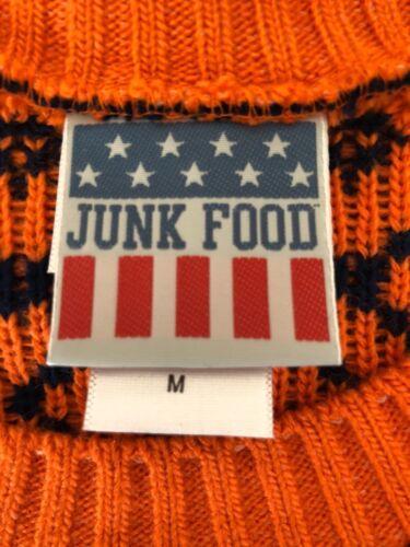 Broncos taglia M Denver Food manica Maglia lunga Junk ZwSBxqHT