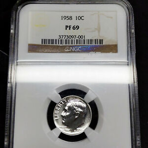 1958-PF69-Roosevelt-Dime-10c-Proof-NGC-Graded-PR69