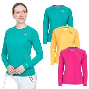 DLX Womens Long Sleeve Tshirt Gym Top Active Workout Causal  Cali