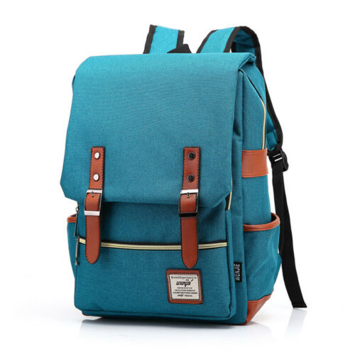 Men/'s Canvas Backpack School Bags for Teenage Laptop Bag Boys Girls USB Bag MH