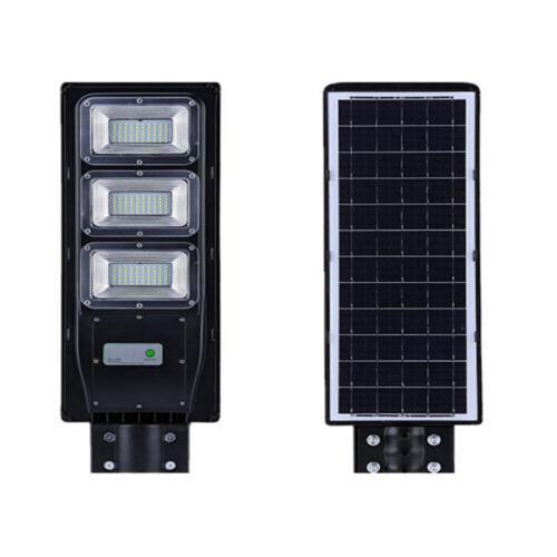20W 40W 60W LED Solar Powered Wall Street Light PIR Motion Outdoor Garden Lamp