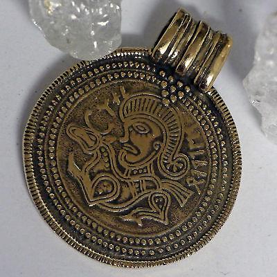 Nachbildung Brakteat Amulett BRONZE Fund Søtvet / Telemark Frauengrab Beigabe