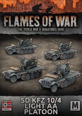Flames of War Entièrement neuf dans sa boîte Allemand Sd Kfz 10//4 Lumière AA peloton GBX111