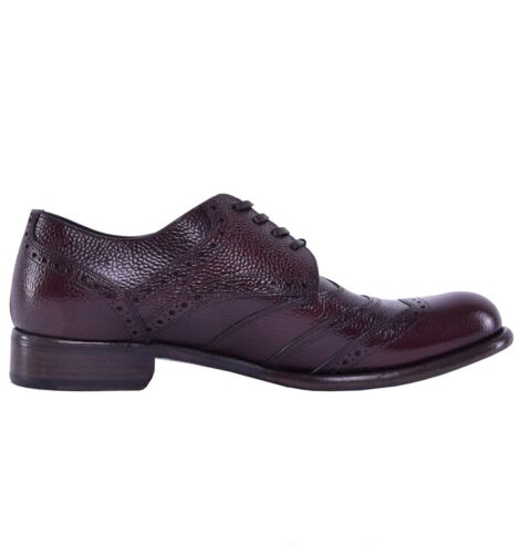 DOLCE /& GABBANA RUNWAY Solid Calf Leather Shoes Brown 04173