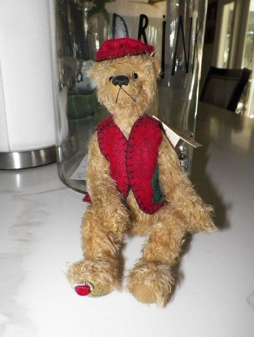 Jahr NITA SCHWENN MOHAIR BEAR ATTIC TREASURES BENTLEY 10  CLEAN WITH TAG