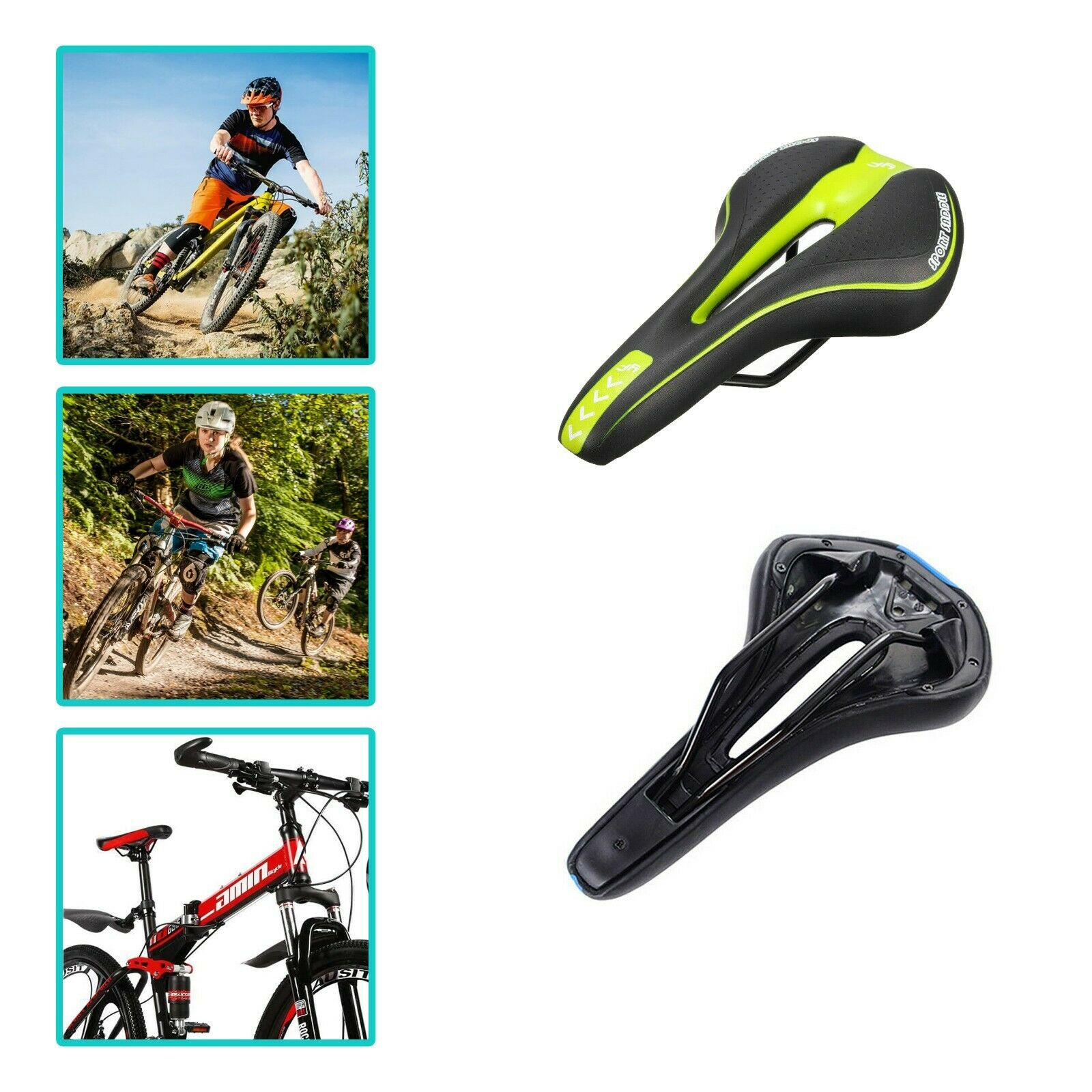 Mountain Road Bike Saddle Seat Ladies Mens Child Bicycle Comfort Cushion Soft