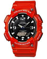 Casio Classic Watch * AQS810WC-4AV Solar Anadigi Red