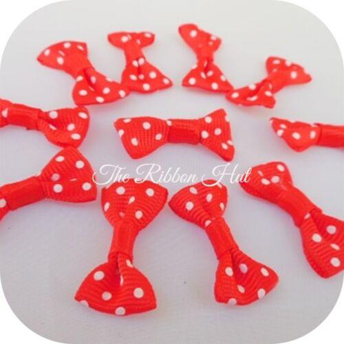 Polka Dot//Spotty Grosgrain Ribbon Mini Bow Ties of 25-Embellishment 3cm-Pkt
