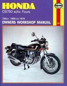 HAYNES-SERVICE-REPAIR-MANUAL-BOOK-HONDA-CB750-SOHC-FOURS-736CC-1969-1970-1979