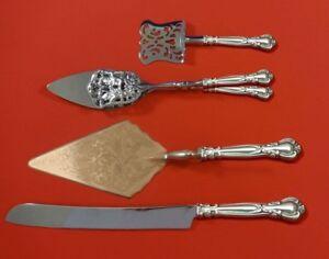 Chantilly-by-Gorham-Sterling-Silver-Dessert-Serving-Set-4pc-Custom-Made