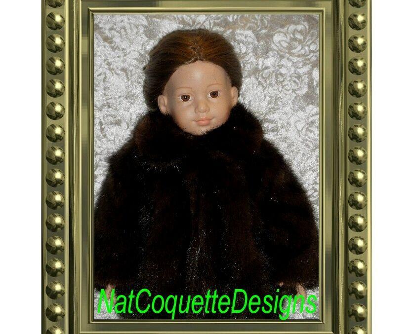 Hermoso Rancho visón abrigo de piel para las muñecas American Girl