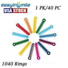1pk1040 Rings Dental Orthodontic Elastic Ligature Ties Band For Brackets Braces