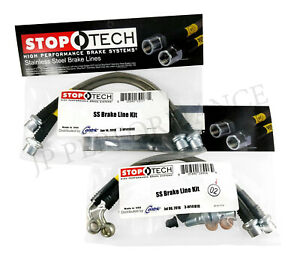 STOPTECH STAINLESS STEEL FRONT IS350 REAR BRAKE LINES FOR 06-16 LEXUS IS250