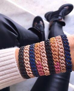Curb-Chain-Bracelet-CZ-Gemstone-925-Silver-14K-Rose-Gold-Plated-Color-Variations