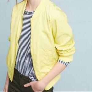 Anthropologie Hei Hei Women S Juneworthy Yellow Bomber Jacket Xs Ebay