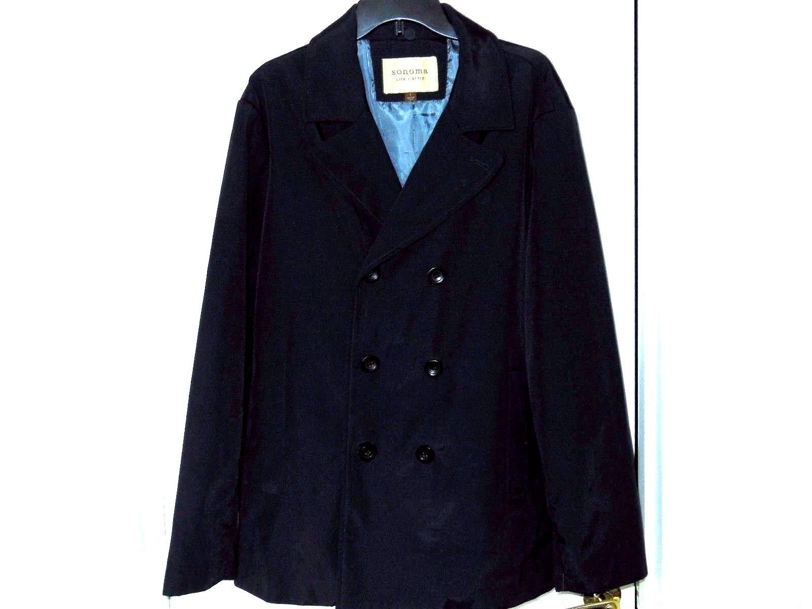 Sonoma mi-longueur robe hommeteau-Taille L, Bleu Marine Doublé Neuf avec étiquettes 140