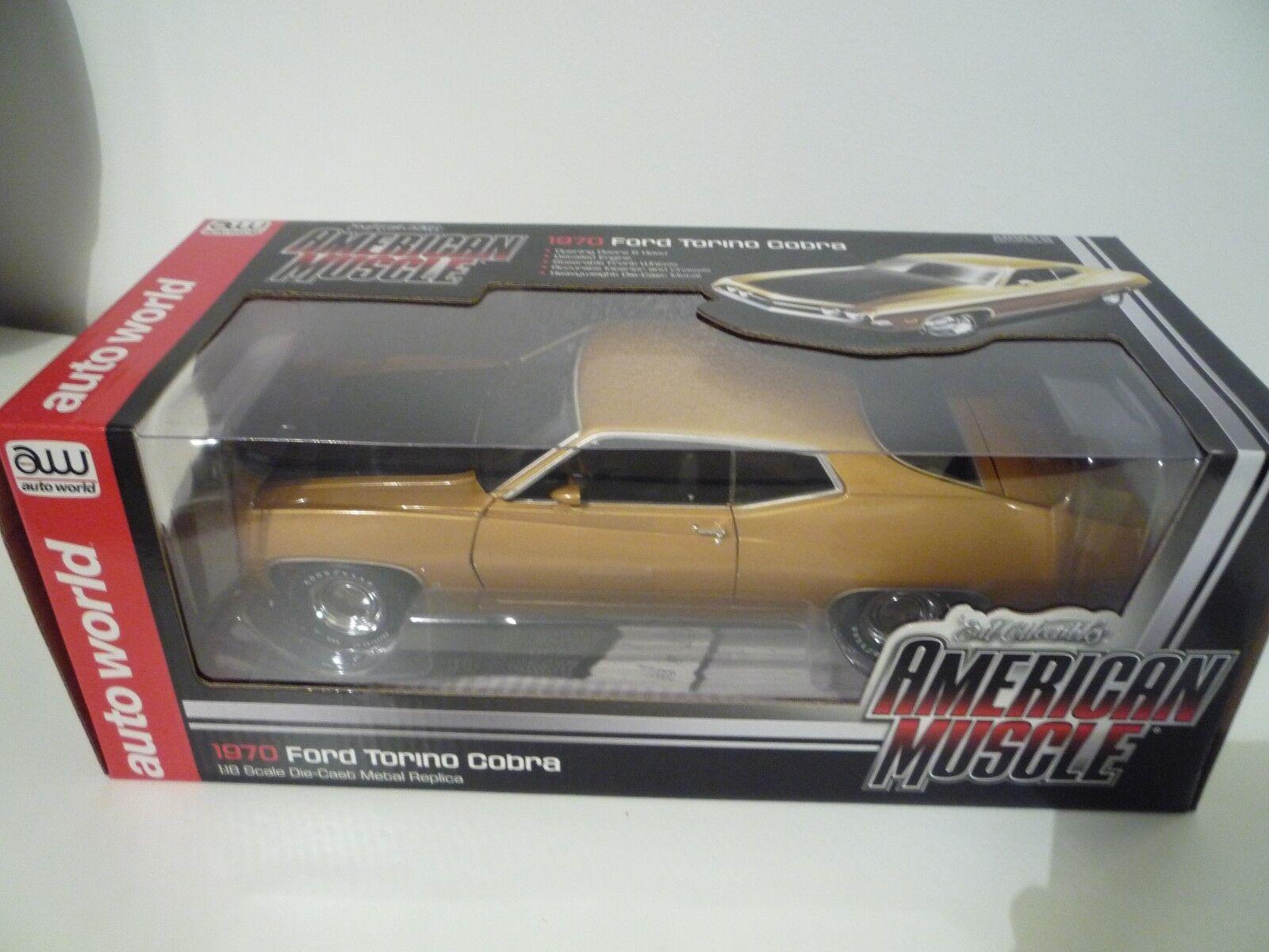 Joie de Noël, étape par étape Auto world 1:18 AMM1039 - Ford Torino Cobra 1970 | La Reine De La Qualité