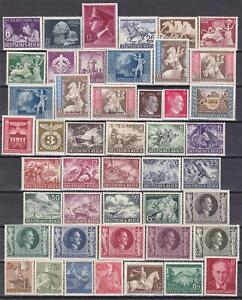 WWII-3rd-Reich-MNH-811-908-COMPLETE-POST-OFFICE-FRESH-See-2-Scans