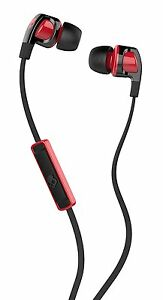 Skullcandy-S2PGFY-010-BLACK-RED-Smokin-Bud-2-In-Ear-Headphones-w-Mic-Brand-New