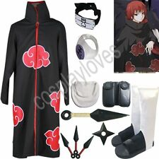 Naruto Akatsuki cloak Akasunano Sasori Cosplay Costume Set Anime