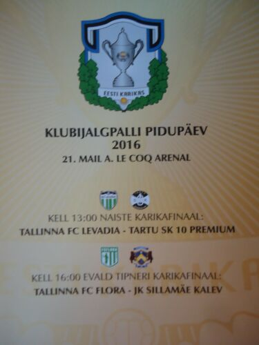 JK Kalev Tartu SK 10 Programm 2016 Pokalfinale FC Flora Women/'s Levadia