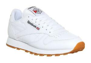 Reebok-Classic-Cuir-Blanc-Gum-Homme-Running-Baskets-Chaussures-de-tennis-49797