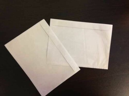 7.5 x 5.5 Clear Adhesive Packing List Shipping Label Envelope Pouches 1500 pcs