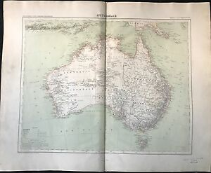 """australie"" Atlas Universel 1889"