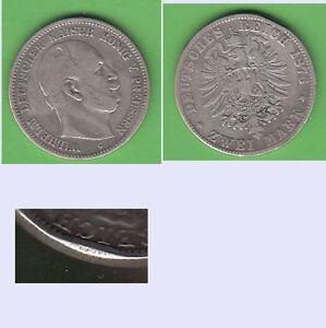 2-Mark-1876-C-Frankfurt-Preussen-Wilhelm-I-Randschlag-Tb-400-stampsdealer