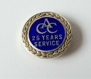 VINTAGE-STERLING-SILVER-amp-ENAMEL-PIN-BADGE