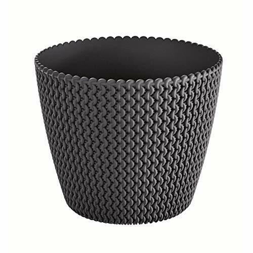 30 cm noir intérieur élégant Fleur jardiniere pot belle maille//torsades
