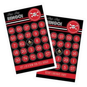 16pk Pirate Party Bingo Cards Fun Child/'s Birthday Party Activiy