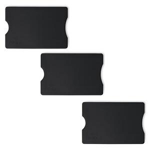 3x-RFID-Schutzhuelle-schwarz-Bank-EC-Karte-Huelle-Personalausweis-Kartenhuelle