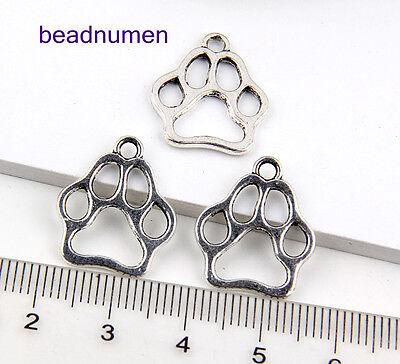 210Pcs Zinc Alloy Bear's Paw pendants 19*16mm 1A1746