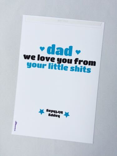 FROM YOUR LITTLE S**T FUNNY DAD BANTER BIRTHDAY GIFT CHOCOLATE BAR WRAPPER