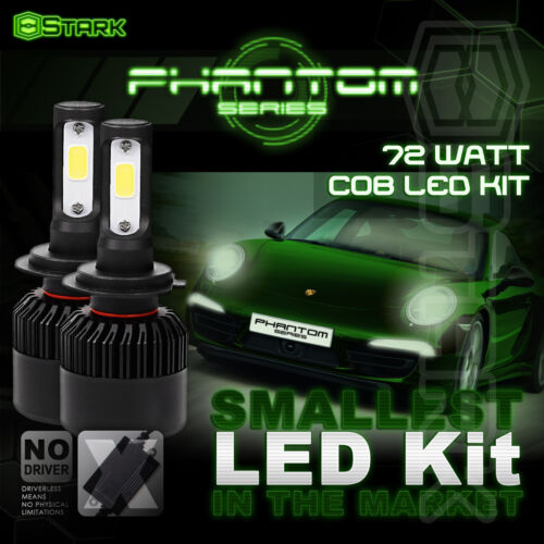 72W 8000LM US BridgeLux Chip LED Conversion Kit 6000K 6K Headlight Bulbs H7 A