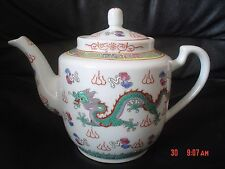 Authentic Chinese Green Dragon Tea Pot Teapot