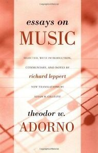 Essays-on-Music-by-Adorno-Theodor-NEW-Book-FREE-amp-FAST-Delivery-Paperback