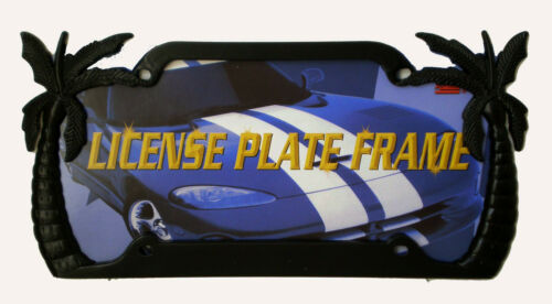 Decorative Black PALM TREE Steel License Plate Frame For Auto SUV Truck