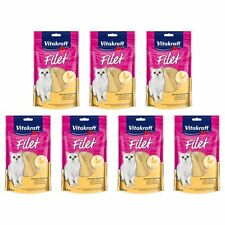 Vitakraft Katzenfutter Premium Filet Huhn - 7x 70g - Hühnchen Snack Leckerli